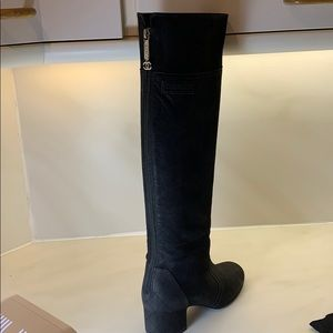 Authentic Chanel strong leather knee-high boots